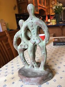Statue - Beatrice Wood - rare - bought from artist in Ojai.