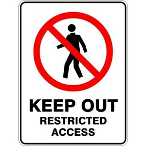 KEEP OUT RESTRICTED ACCESS - SELF ADHESIVE STICKER / DECAL / SIGN | HEALTH & SAF