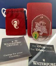 Waterford Crystal Disney Mickey's Winter Wonderland Ornament 1996 ~ MIB