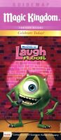 2008 Monster's Inc. Laugh Floor Opens At Magic Kingdom - Fold Out Map & Guide