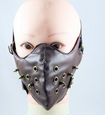 Fashion Punk Spike Half Face Mask Rock Biker Motorcycle Rave Mask Unisex Leather