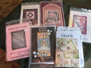lot (6) quilt patterns