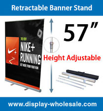 "Retractable Banner Stand 57"" 100 PCS"