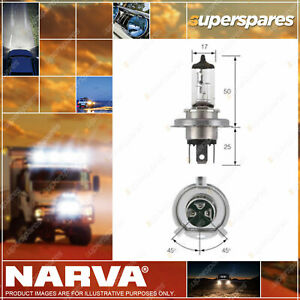 Narva H4 Halogen Globe 12V 60/55W P43T Plus 30 48881BL Headlamp Light for volvo