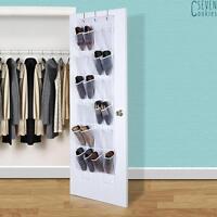 Shoe Organiser 24 Pockets Over Door Hanging Bag Storage Rack Hanger Holder