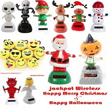 Solar Powered Bobble Head Dolls Dancing HALLOWEEN + CHRISTMAS Party Toy Figure