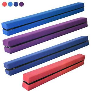 7FT 210CM Folding Gymnastics Gym Balance Beam Home Trainging Bar Suedine Kids