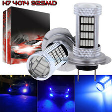 2Pcs H7 4014 92Smd Led Fog Lights Bulbs Conversion Kit High Power 10000K Blue