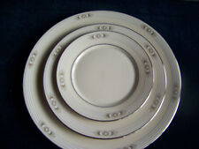 """LENOX CHINA METROPOLITAN COLECTION  """"SILVER SPRINGS"""" PATTERN 3 PIECES"""