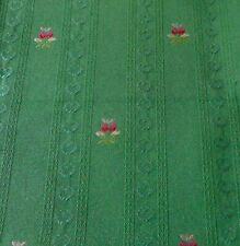 Vintage French Provincial Floral Brocade Jacquard Fabric #2~ Rich Green Rose