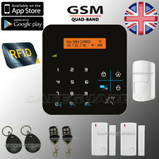 LCD WIRELESS RFID GSM AUTODIAL HOME HOUSE OFFICE SECURITY BURGLAR INTRUDER ALARM