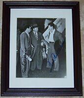 VERY RARE Ted Williams Joe Cronin Dom DiMaggio Signed Baseball Photo JSA AH LOA!