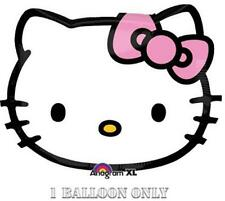 "Hello Kitty Super Shaped Head 20"" Foil Mylar Balloon Birthday Party Supplies New"