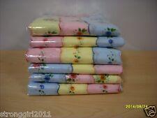 PROMOTION Lot of 12  Ladies Floral Handkerchiefs Cotton Hankies Vintage Inspired
