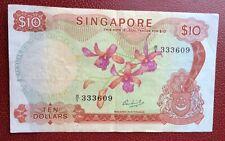 Singapore - Très Joli et Rare billet de 10 $ 1972  - Pick # 3/c - vf=45  $