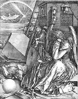 Albrecht Durer:Melencolia Famous Engraving - 8x10 Canvas Fine Art - COMPARE!!!!
