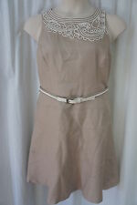 Anne Klein Petite Dress Sz 14P Chino Neutral Sleeveless Business Cocktail dress
