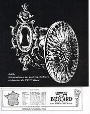 PUBLICITE  1972   BRICARD  serrures