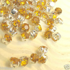 350 x Yellow Acrylic Diamonds on Silver Studs SB27Y