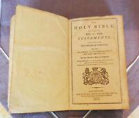 RARE ANCIENNE HOLY BIBLE - TRADUIT PAR SIR HUNTER BLAIR ET J. BRUCE - AN 1811