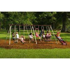 Flexible Flyer Play Park Metal Swing Set W