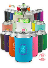 Personalized Premium Collapsible Can Coolers Wedding / Party Favors 100 QTY