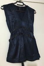 Ladies TOPSHOP Navy Blue Viscose Top. Size 8. EUC
