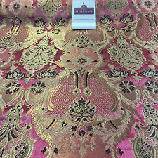 "Indian Banarsi Gold Metallic Ornamental floral brocade fabric M373 Mtex 40"" wide"