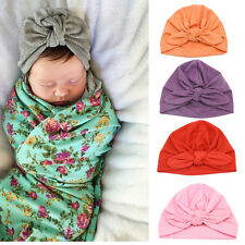 Cute Baby Boy Girl Newborn Toddler Bowknot Cotton Warm Soft Beanie Hat Cap Gifts