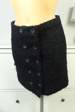 BALENCIAGA Rock Skirt laine jupe en laine noir taille 36 S (bf109)