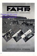 Traktor Fahr Gottmadingen XL Reklame 1940 !!! Schlepper Erntemaschinen Werbung +