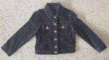 "American Eagle Outfitters Women Dark Gray Corduroy Jean Jacket S/P 31""B Denim GC"