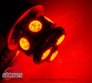Set of 2pcs Red Tail Light 9 SMD LED Light Bulbs 2057 7225 2357 - 1157 1 Pair