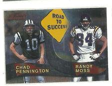 Randy Moss Chad Penninton    2000 Bowman Road To Success     Minnesota Vikings