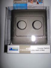 DOUBLE DIMMER SWITCH 250 Watt , 2 Way. STONE EFFECT