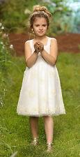 IL GUFO Traum Kleid aus besticktem Tüll cremeweiß Gr.116-140 NEU%SALE%