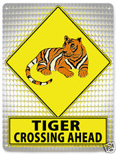 TIGER METAL STREET SIGN RETRO great gift educational kids room wall decor 107