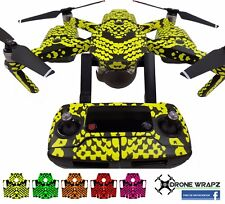 Fluorescent Yellow Snake Skin Reptile  DJI Mavic Wrap / Skin / Decal UK made