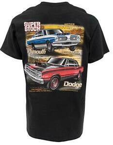 Summit Gifts 483145 T-Shirt Short Sleeve Black Cotton Plymouth Super Stock