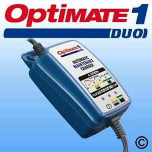 Optimate1 DUO 12v STD AGM GEL Lithium Battery Charger Motorcycle Bike