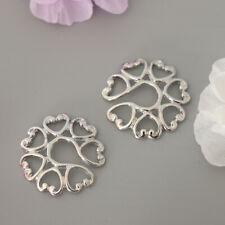 Charm Nipple Ring Non-Piercing Clip On 1 Pair Women Fake Body Jewelry Heart