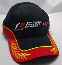 FORMULA 1 UNITED STATES GRAND PRIX 2014 hat cap NEW adjustable racing black