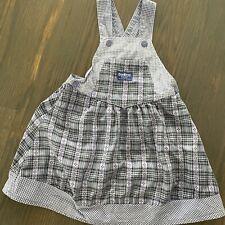 Vintage Oshkosh B'gosh Gingham Plaid 100% Cotton Overalls Jumper Dress 5