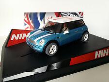 "SCX Scalextric Slot Ninco 50311 Mini Cooper Electric Blue ""England"""