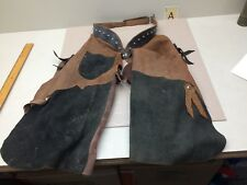 Vintage Child's Suede Leather Chaps Cowboy Cowgirl