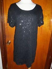 Victoria's Secret Super Model Essentials Black Cocktail Sequin Dress S NWT $108