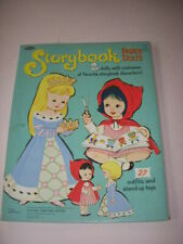 STORYBOOK PAPER DOLLS, WHITMAN #1951, ONLY CONTAINS 4 DOLL OUTFITS, NO DOLL!