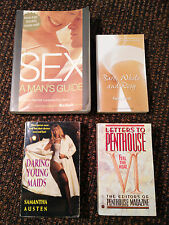 LOT OF 4 BOOKS INCLUDING BARE WHITE AND ROSY AND SEX : A MAN'S GUIDE - VR