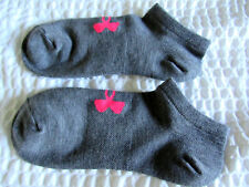 UNDER ARMOUR WOMENS SOCKS NO SHOW GRAY/PINK 1 PAIR SHOE 4-10.5 MEDIUM GREAT GIFT