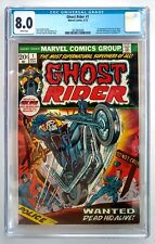 GHOST RIDER #1 CGC 8.0 WHITE PAGES 1st App. Son Of Satan Daimon Hellstrom1973